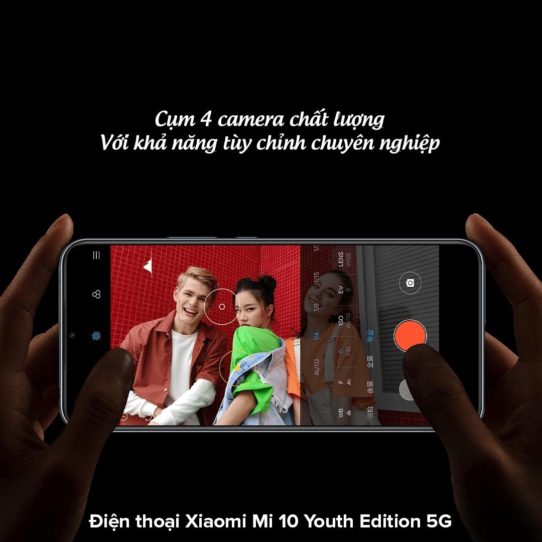 Điện thoại Xiaomi Mi 10 Youth Edition 5G 4 camera
