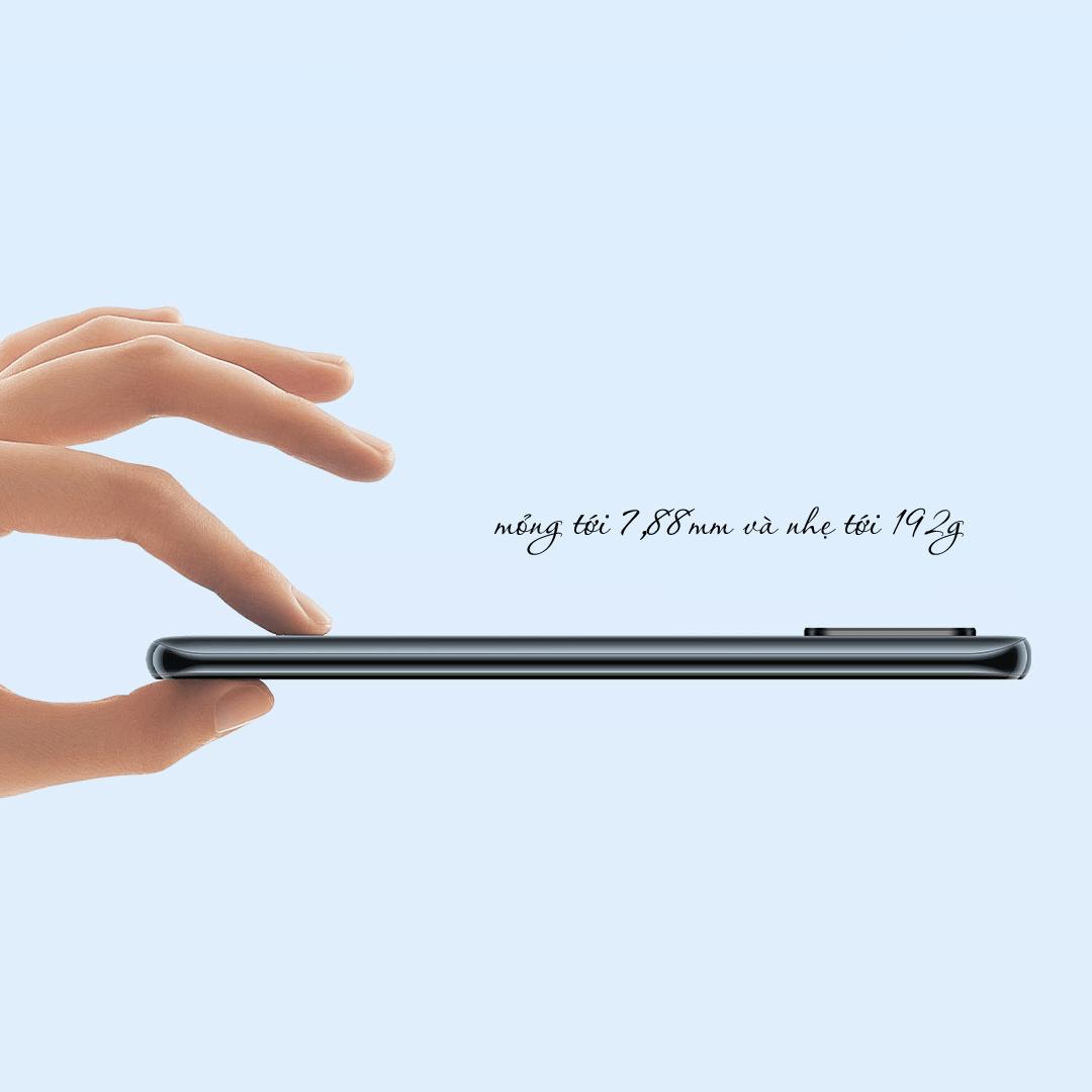 Điện thoại Xiaomi Mi 10 Youth Edition 5G mỏng và nhẹ hơn