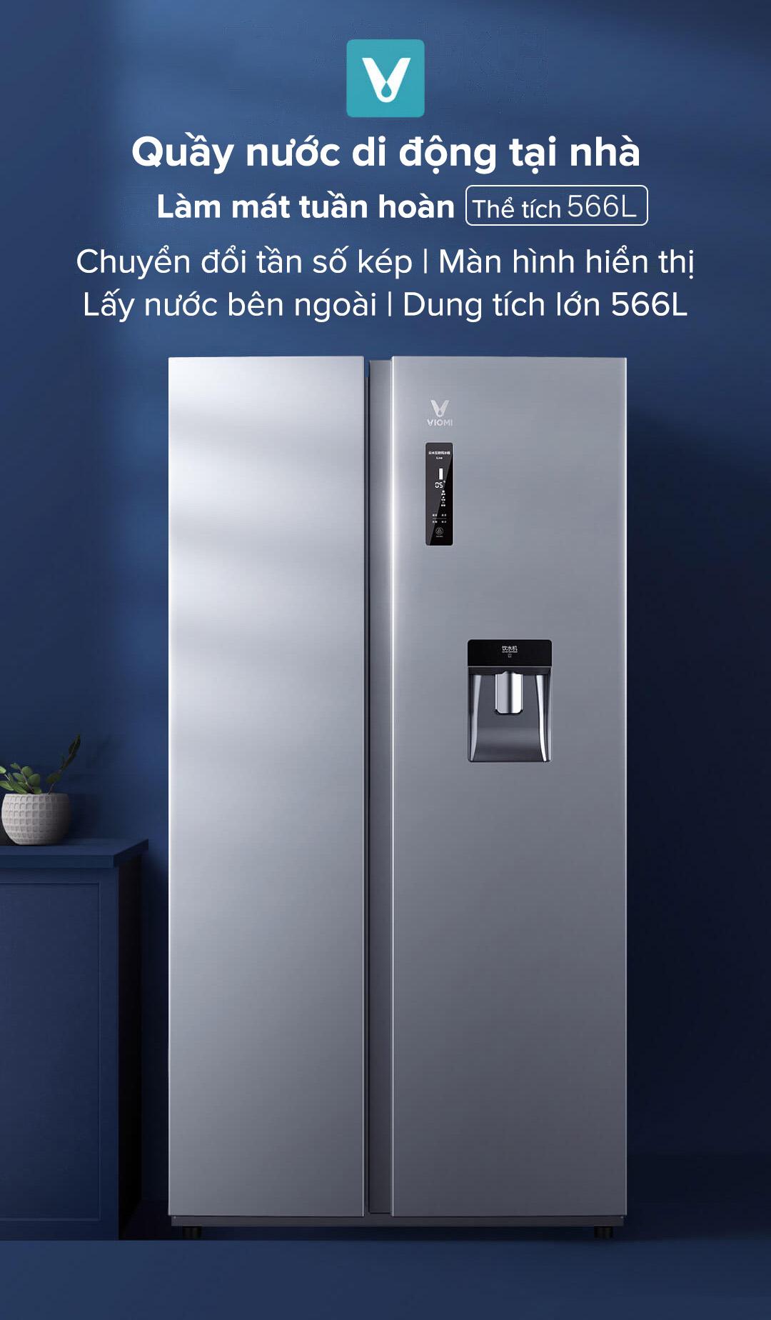 tủ lạnh thông minh lấy nước bên ngoài Xiaomi BCD-566WMSADO4A