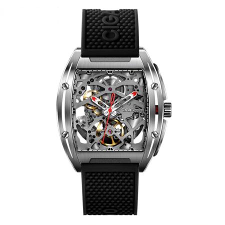 Đồng hồ nam CIGA Z sang trọng đeo tay tự động dành cho doanh nhân với dây đeo bằng silicon vỏ Titanium