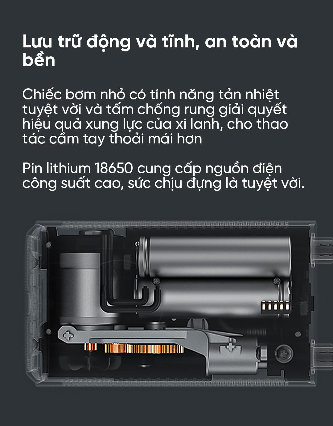 Máy bơm lốp cầm tay tự động Xiaomi Mijia MJCQ01QJ (7)